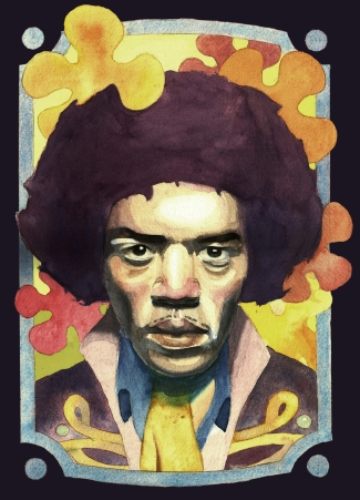 Jimi Hendrix Watercolor
