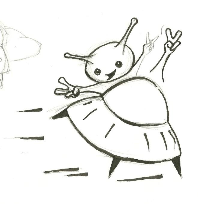 Alien Line Drawing