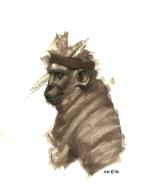 Prismacolor marker, graphite, Micron pen